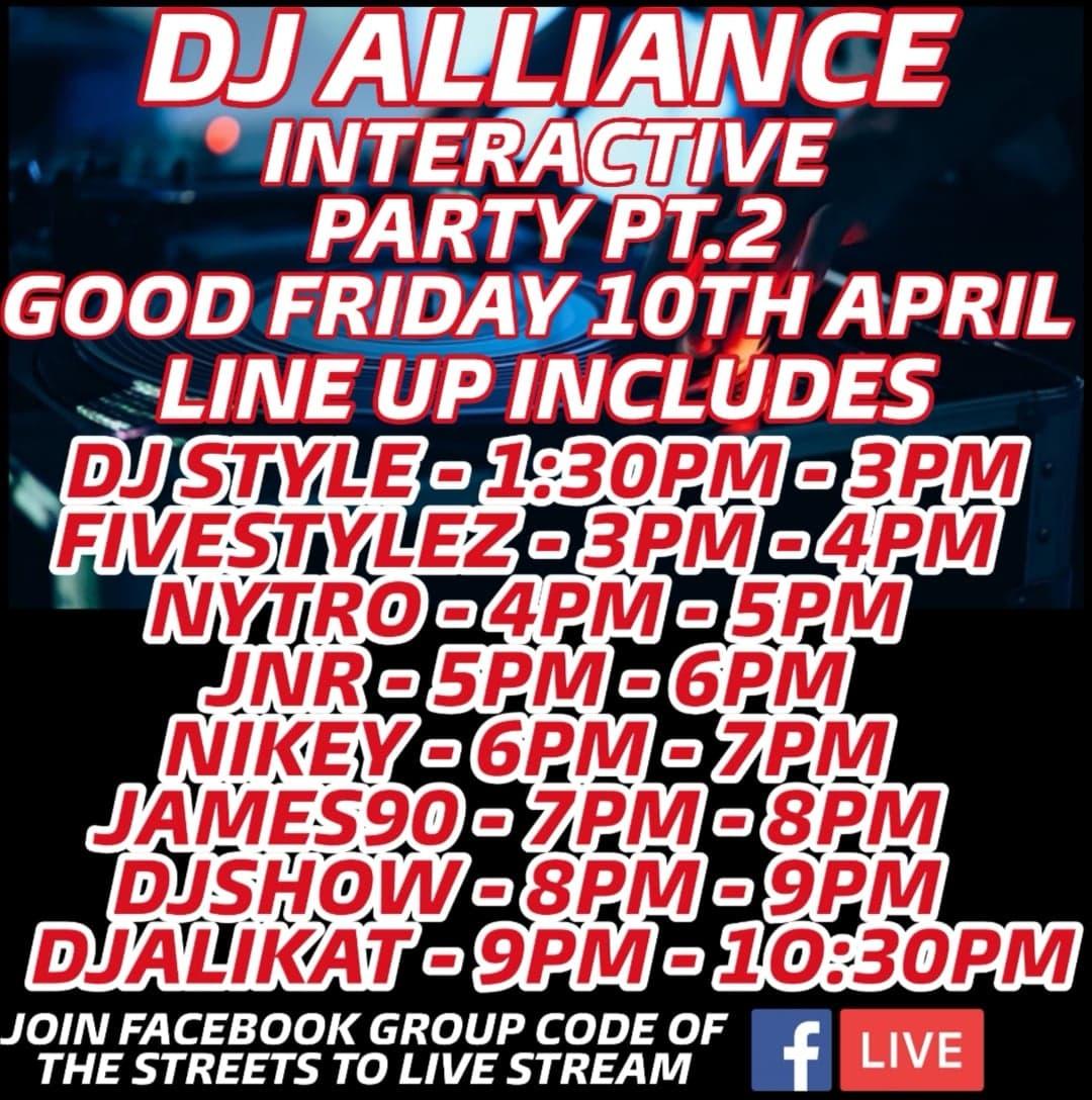 Returning back DJ Alliance Pt.2 Easter Friday
