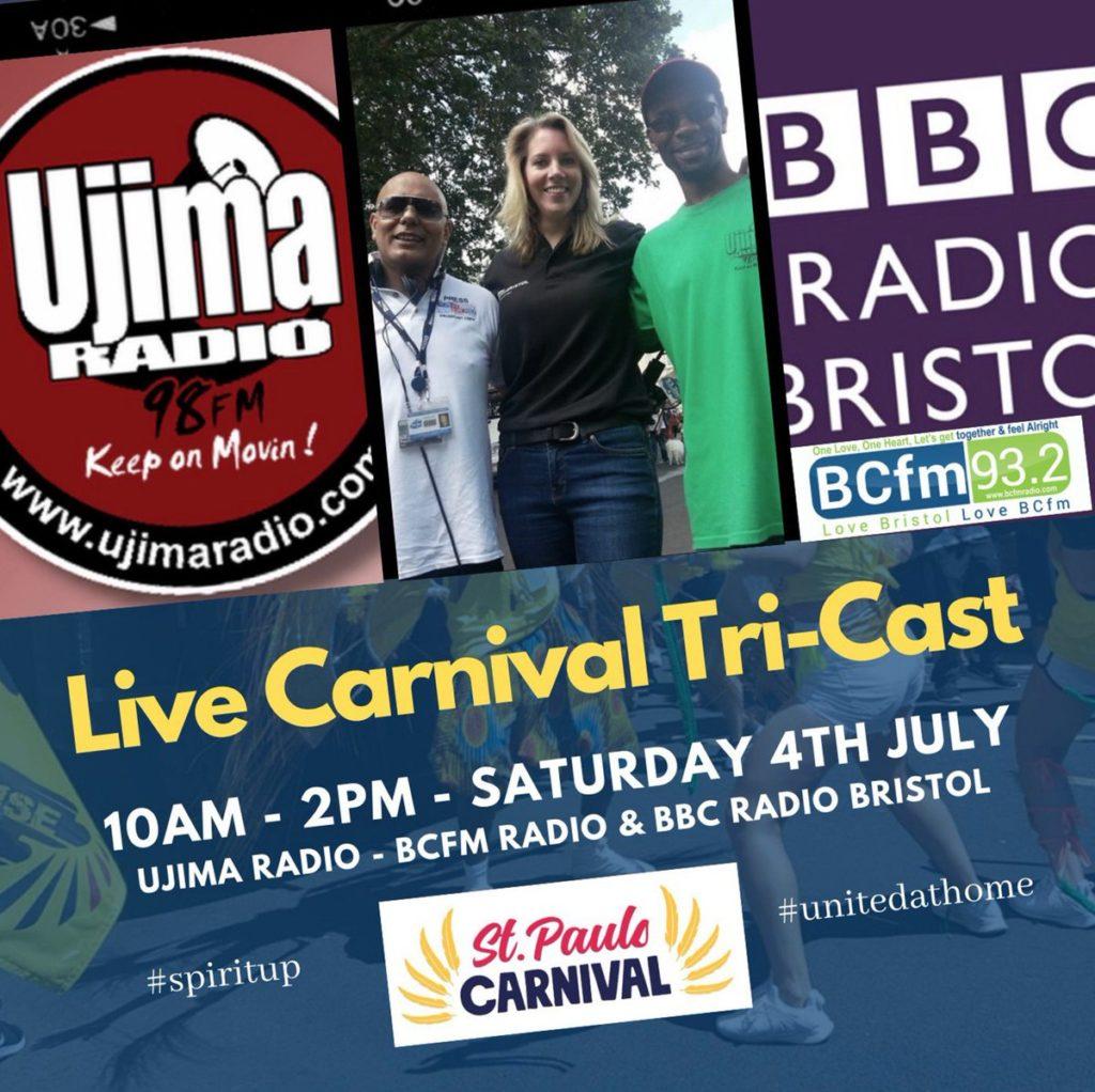 BBC Radio Bristol, BCFM & Ujima Celebrate a Virtual St Paul's Carnival